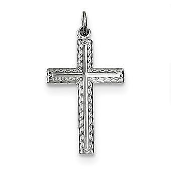 925 sterling silver solid polerad Flat tillbaka Cross hänge-1,0 gram