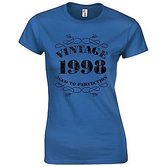 21 års fødselsdag gaver til kvinder hendes vintage 1998 T shirt