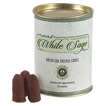 Backflow White Sage Incense Cones by Goloka