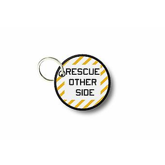 Porte Cle Cles Clef Brode Patch Ecusson Rescue Other Side