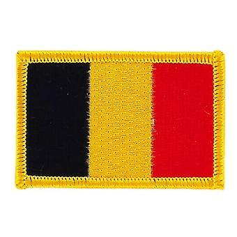Patch geborduurd wapenschild Belgische vlag BELGE Thermocollant insigne Blason