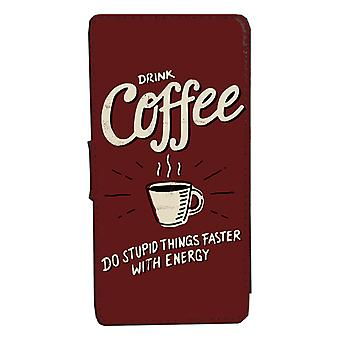 iPhone 6/6s Funny kafe design case Shell Wallet