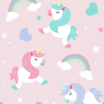 Believe in Unicorns Wallpaper Pink World of Wallpaper A365 CAO 1