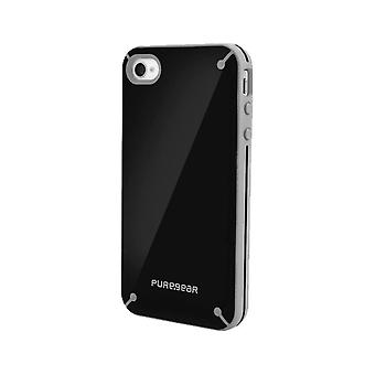 Funda Slim Shell Snap-on PureGear para Apple iPhone 4/4S - Black Tea