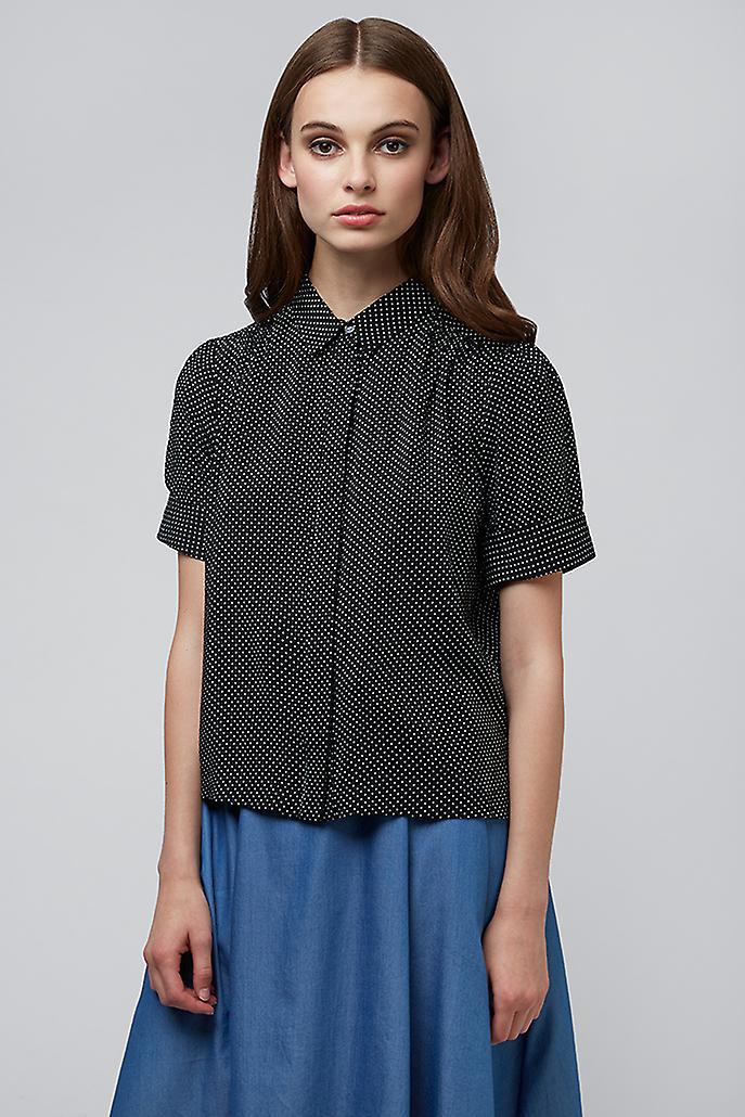 Louche Chelle Spot Shirt Black