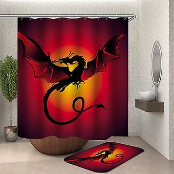 Tenda doccia drago rossastro