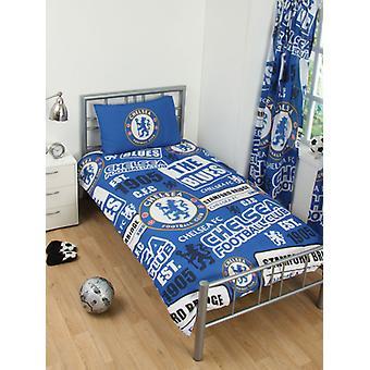 Chelsea FC patch enkelt dynebetræk og pudebetræk sæt