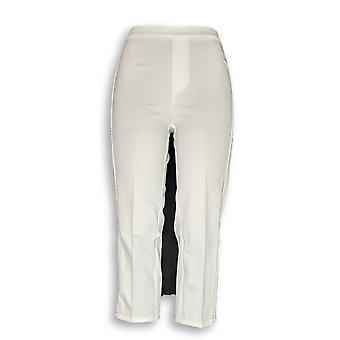 Isaac Mizrahi Live! Kvinner ' s bukser 24/7 strekk beskjære bukser hvit A260925