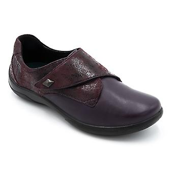 Padders Viola Ladies Leather Extra Wide (2e/3e) Shoes Purple
