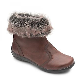 Padders Clarinet Ladies Leather Extra Wide (2e/3e) Boots Brown