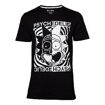 Rick i Morty Psychedelic T-Shirt Mężczyzna Mały Czarny (TS370508RMT-S)