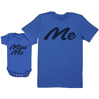 Me & Mini Me - Baby Gift Set with Baby Bodysuit & Father's T-Shirt