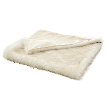 Heine home soft Plaid blanket living blanket couch ceiling in fur look white approx. 140x170 cm