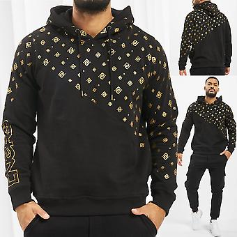 Men's Hooded Sweater DNGRS Hoody Sweat Shirt Longsleeve with Logo Goldpattern