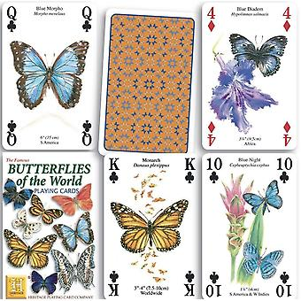 Butterflies Of The World Set Of 52 Playing Cards (+ Jokers)