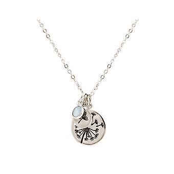 Gemshine alpin Dandelion Pusteblume 925 silver, guldpläterad eller ros-Chalcedon