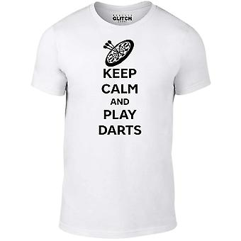 S men's keep calm and play darts t-shirt.