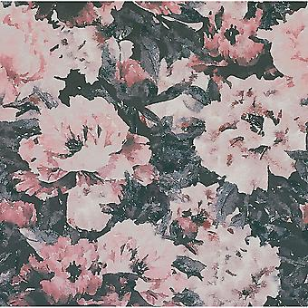 Camille floral velvet fabric