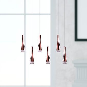 New Pendant Light Chandelier Ceiling Living Room Six Pendant Rectangular Canopy