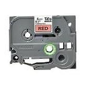 Kaseta Prestige™ kompatybilna tz-411/tze-411 czarna na taśmach red label (6mm x 8m) do maszyn do drukowania etykiet p-touch brata