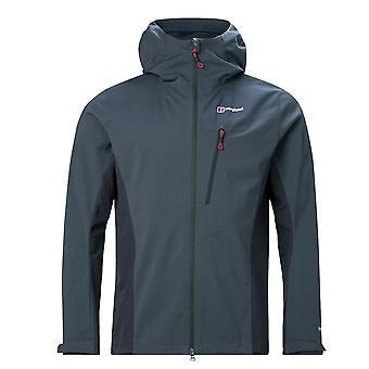 Berghaus Taboche Mens Windproof Waterproof Softshell Full Zip Jacket Manteau Gris