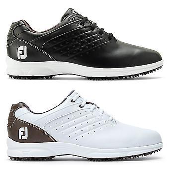 Footjoy Mens Arc SL Leather Waterproof Spikeless Golf Shoes