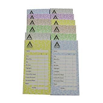 Agenda check pads - assorted 12 x 100 leaf pads