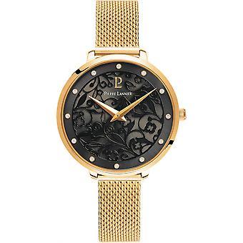 Show Pierre Lannier 046G 538 - stitch Milanese woman gold watch