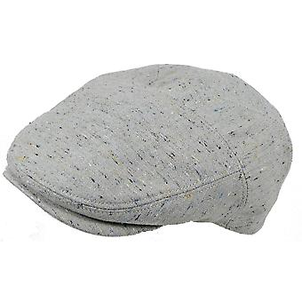 Adult Unisex Classic Lightweight Fleck Linen Flat Cap Summer Sun Fashion Hat
