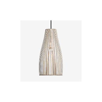 Iumi Ena L Large Cone Shaped Plywood Pendant Lamp - White