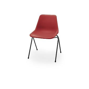 Hille Red Robin Day Poly Side Chaise en plastique