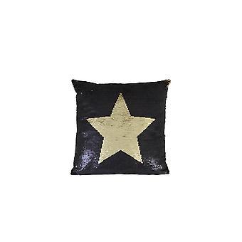 Light & Living Pillow 45x45cm Star Black Gold