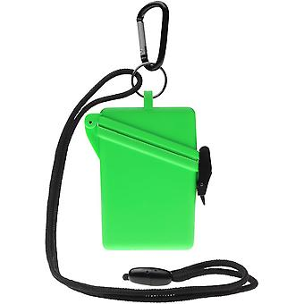 Witz Surfsafe Lightweight Waterproof Sport Case w/ Lanyard & Carabiner - Green