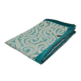 Mcalister textiles little leaf teal throw