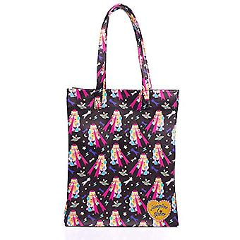 Irregular Choice Ic Essential Carrier Bag Medium ( Black Multi) 11x36x29.5 cm (W x H L)