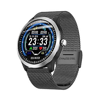 Lemfo Sports SmartWatch N58 ECG PPG + Fitness Sport Activité Tracker Smartphone Watch iOS iPhone Android Samsung Huawei Black Metal