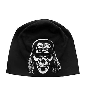 Slayer Beanie Hat Soldier skull band logo new Official Black Jersey Print