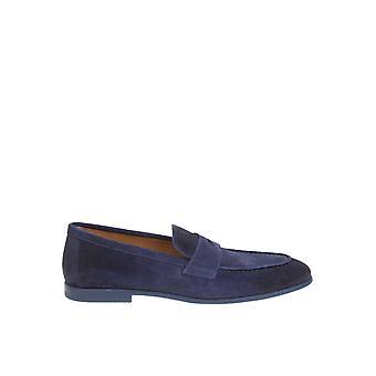 Doucal's Du1945elbauz067lb10 Men's Blue Suede Loafers