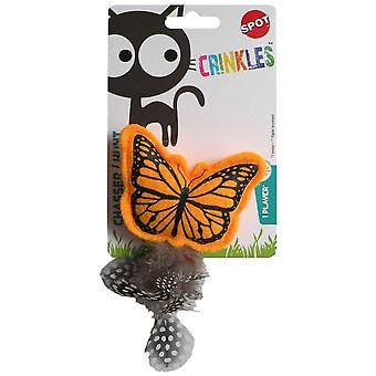 Agrobiothers Crinkle Butterfly Cat Toy (Cats , Toys , Teaser Wands)