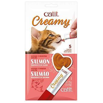 Catit Creamy Snack Liquido Salmon para Gatos (Cats , Treats , Chewy & Softer Treats )