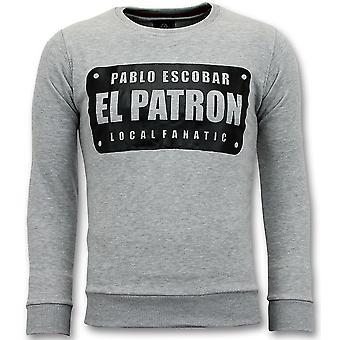 Villapaita - Pablo Escobar El Patron - Harmaa