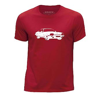 STUFF4 Boy's ronde hals T-T-shirt/Stencil auto Art / XJS/rood