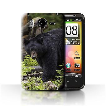 STUFF4 Fall/Cover für HTC Desire HD/G10/Black Bear/Nordamerika Tiere