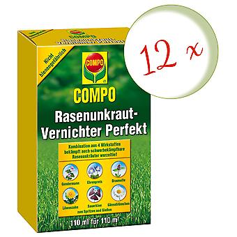 Sparset: 12 x COMPO Lawn Weed Killer Perfect, 110 ml