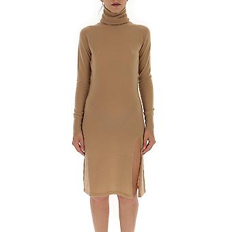Laneus Abd1208cc15cammello Women's Beige Wool Dress