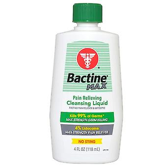 Bactine max pain relieving cleansing liquid, 4 oz