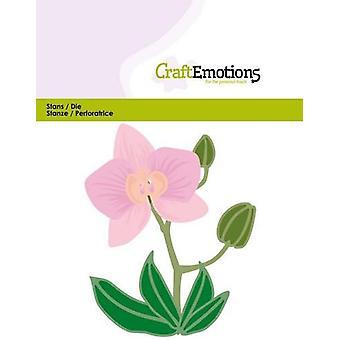 CraftEmotions Die - Orquídea flor 3D Cartão 11x9cm