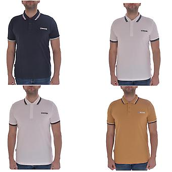 Lambretta Mens Triple Tipped Bomull Kort ärm Casual Polo Shirt Top