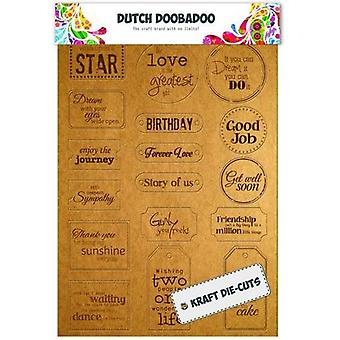 Dutch Doobadoo Dutch Label Art Every day text tags (ENG) 474.007.003