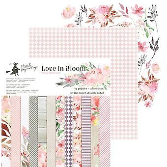 "Piatek13 12""x12"" Double Sided Paper Pad - Love in Bloom, 12 Sheets"